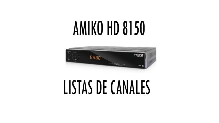 Amiko-HD8150-Listas-de-canales
