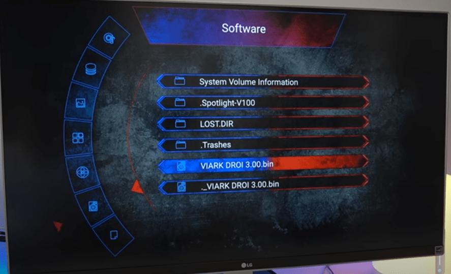 VIARK DRS Actualizar firmware