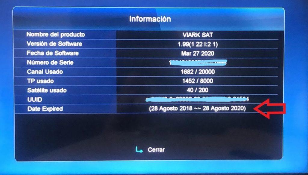 Viark SAT Caducidad