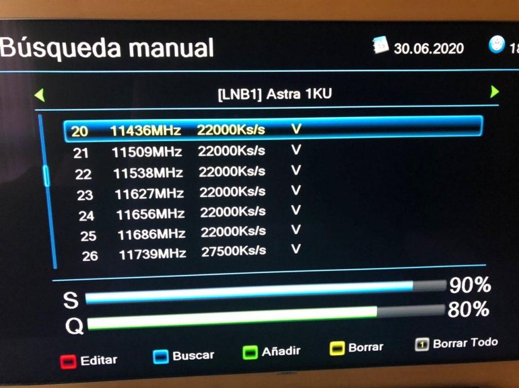 ENGEL 8100 HD Añadir nuevas frecuencias