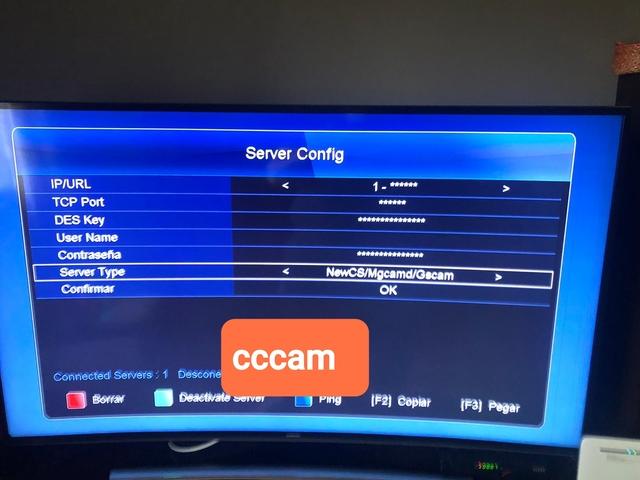 VIARK SAT CCCam añadir con el mando