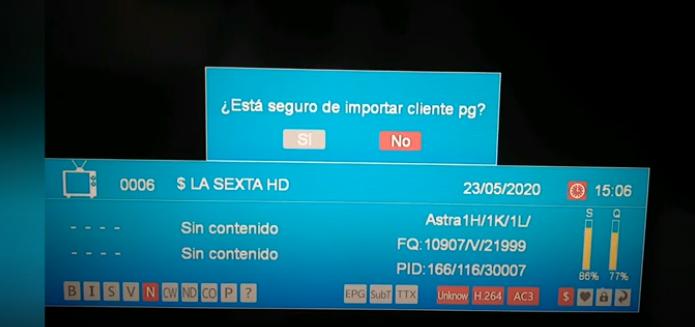 GTMEDIA V8 NOVA Añadir lista IPTV