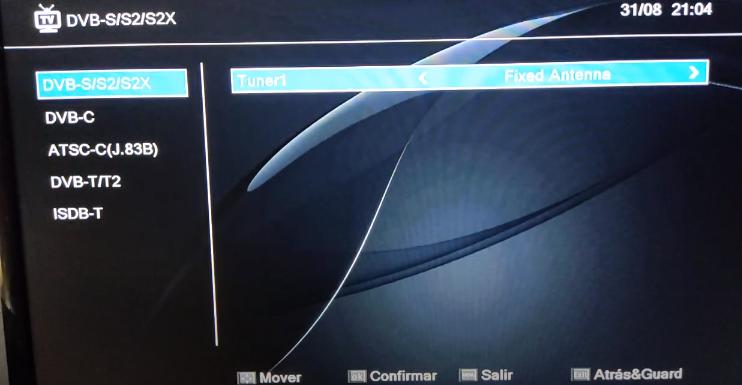 GTMEDIA V8 UHD Búsqueda de canales