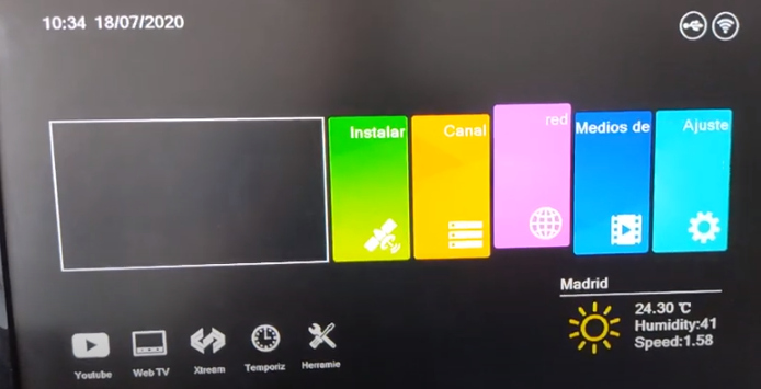 GTMEDIA V8 UHD Añadir CCcam desde el menú