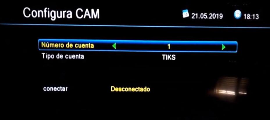 ENGEL 8100 HD Añadir CCcam con el mando