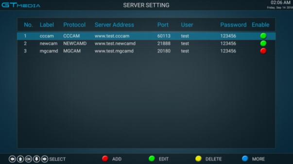GTMEDIA GTC Editar OSCam