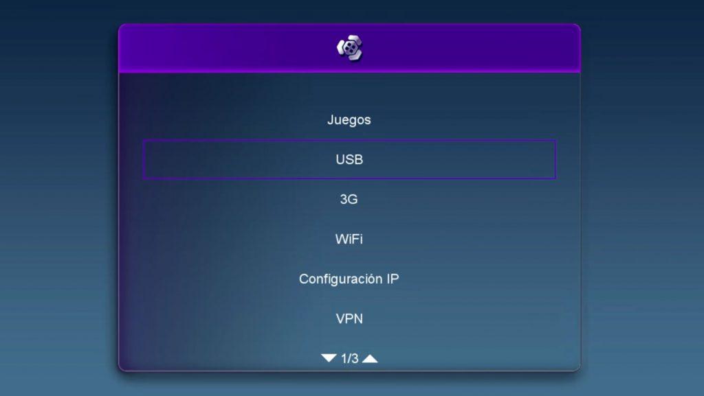 VIARK SAT Actualizar firmware por USB